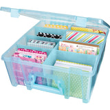 ArtBin Super Satchel Double Deep Box with Dividers Aqua Mist 15.25inX14inX6.25in