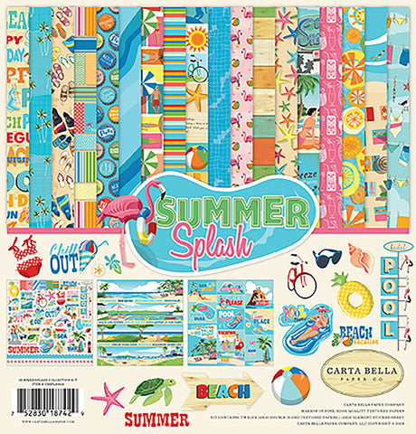 Carta Bella Collection Kit Summer Splash 12inX12in