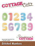 CottageCutz Die Stitched Numbers 1in