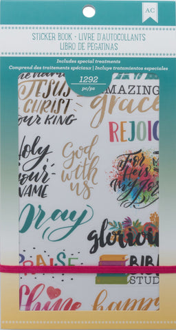 American Crafts Planner Stickers 12-Page Book Faith 4.75inX9in