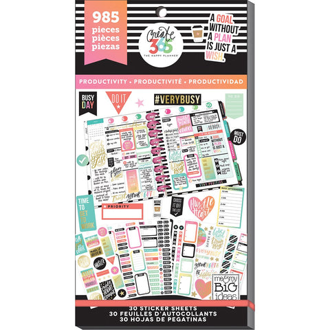 Create 365 Happy Planner Sticker Value Pack Productivity
