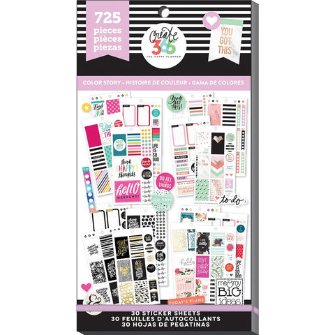 Create 365 Happy Planner Sticker Value Pack Classic Color Way