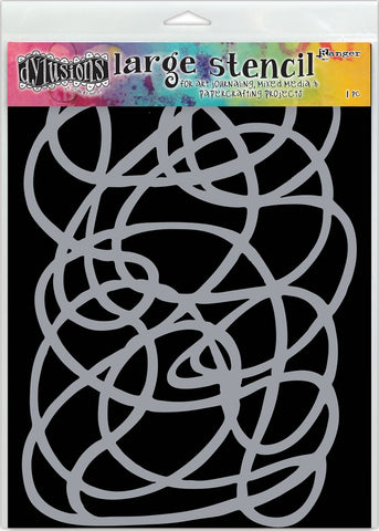Dyan Reaveley's Dylusions Stencils Squiggle 9inX12in