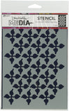 Dina Wakley Media Stencils Wallpaper 9inX6in