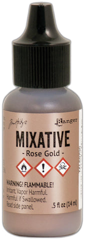 Tim Holtz Alcohol Ink Metallic Mixatives Rose Gold