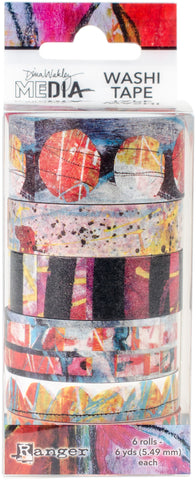 Dina Wakley Media Washi Tape No2 6 Rolls