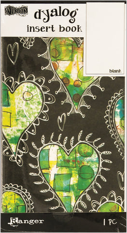 Dyan Reaveley's Dylusions Dyalog Insert Book Blank 4.375inX8.25in