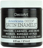 Americana Decor Satin Enamels Classic Black 8oz