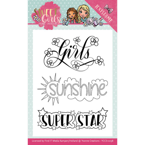 Find It Trading Yvonne Creations Clear Stamps Sweet Girls