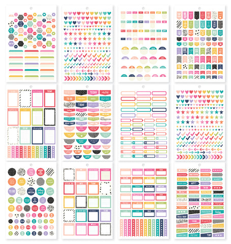 Carpe Diem A5 Planner Sticker Tablet Planner Basics 944pk