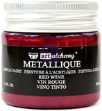 Finnabair Art Alchemy Acrylic Paint Metallique Red Wine 1.7fl oz