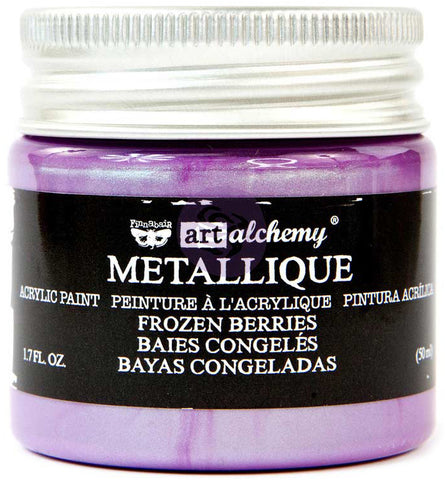 Finnabair Art Alchemy Acrylic Paint Metallique Frozen Berries 1.7fl oz