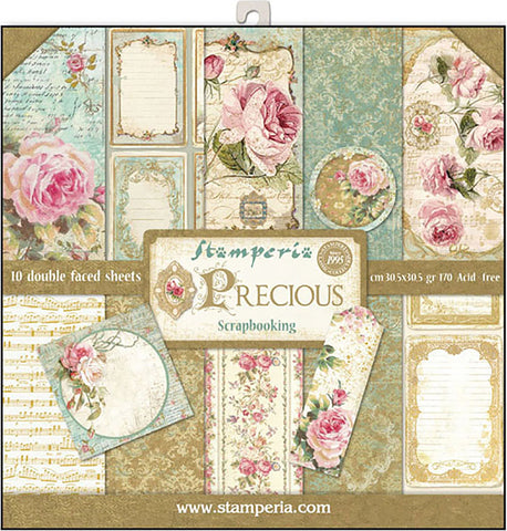 Stamperia Double-Sided Paper Pad Precious Gift 12inX12in 10pk