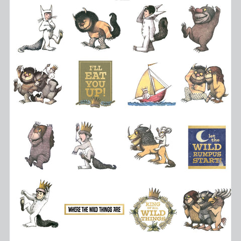 Paper House Self Adhesive Die Cuts Where The Wild Things Are 36pk