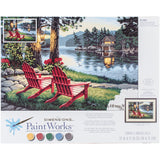 Paint Works Paint By Number Kit Adirondack Evening 20inX14in
