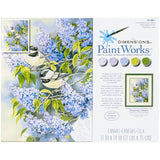 Paint Works Paint By Number Kit Chickadees & Lilacs 11inX14in