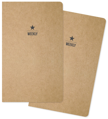 Carpe Diem Traveler's Notebook Inserts Two Weekly 26 Weeks Each 5inX8.25in 2pk