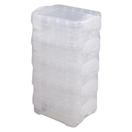 Storage Studios Super Stacker Bitty Boxes Clear 5pk 1.4inX2.5inX3.4in