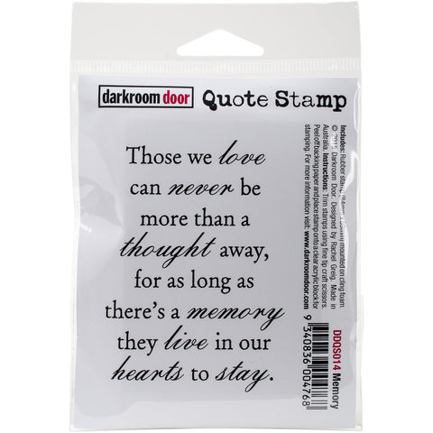 Darkroom Door Cling Stamp Memory 3inx2in