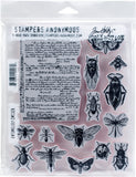 Tim Holtz Cling Stamps Entomology 7inX8.5in