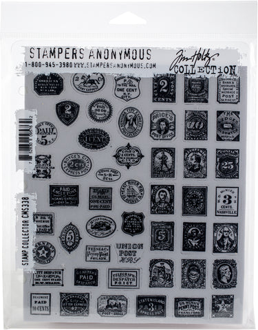 Tim Holtz Cling Stamps Stamp Collector 7inX8.5in