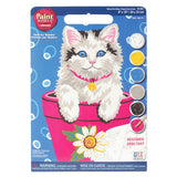 Paint Works Paint By Number Kit Flower Pot Kitten 8inX10in