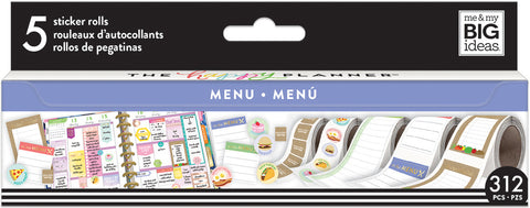 Happy Planner Sticker Roll Food Menu