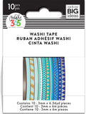 Happy Planner Mini Washi Tape Blue Hues 3mmx6.56yds 1pk