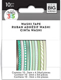 Happy Planner Mini Washi Tape Green Hues 3mmx6.56yds 1pk