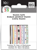 Happy Planner Mini Washi Tape Pastel 3mmx6.56yds 1pk
