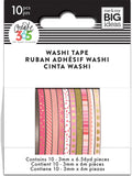 Happy Planner Mini Washi Tape Pink Hues 3mmx6.56yds 1pk