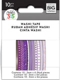 Happy Planner Mini Washi Tape Purple Hues 3mmx6.56yds 1pk