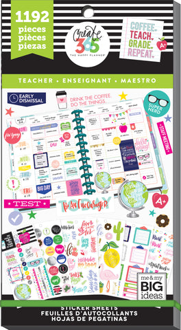 Happy Planner Sticker Value Pack Teacher 1192pk