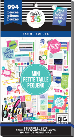 Happy Planner Mini Planner Sticker Value Pack Faith 994pk