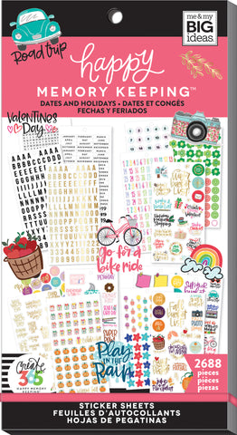 Happy Memory Keeping Sticker Value Pack Dates & Holidays 2688pk