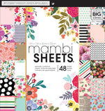 Mambi Single-Sided Paper Pad Botanicals 12inX12in 48pk