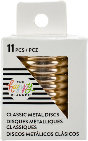 Happy Planner Medium Metal Expander Discs Rose Gold 11pk