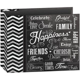 D-Ring Binder Chalkboard Album Happiness 12inx12in
