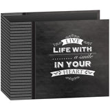 D-Ring Binder Chalkboard Album Smile 12inx12in
