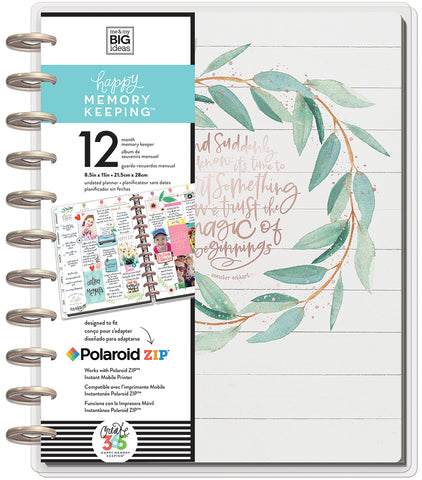Happy Memory Keeping Undated 12-Month Big Planner Rustic