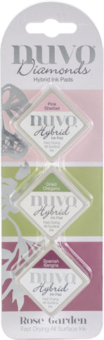Nuvo Diamond Hybrid Ink Pads Rose Garden 3pk