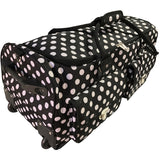 CGull Rolling Craft Machine & Supply Bag 2.0 Black With White Polka Dots
