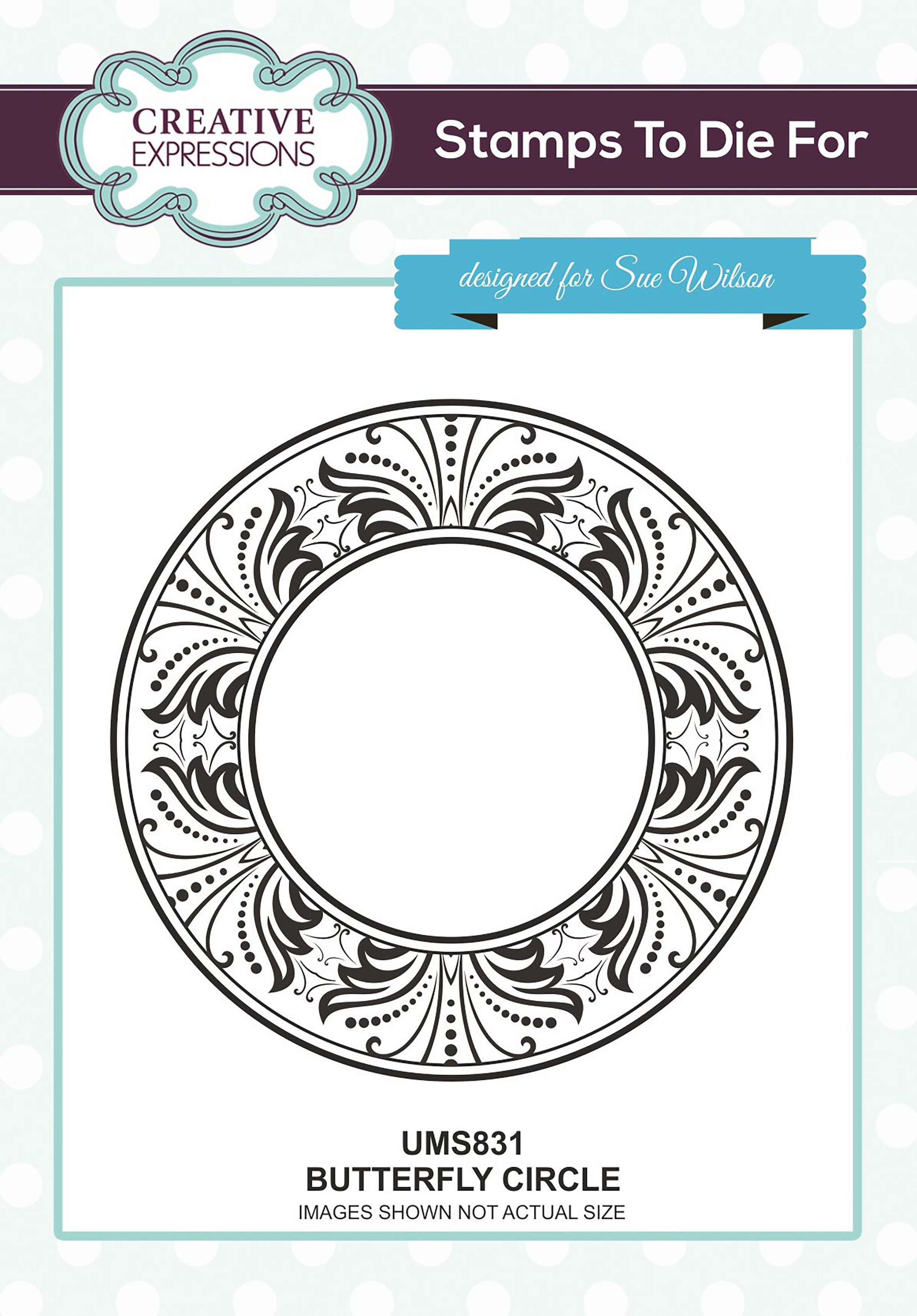 Creative Expressions Stamps To Dies For Butterfly Circle Scrapbooking Warehouse