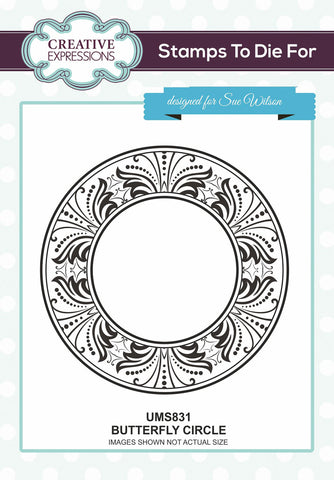 Creative Expressions Stamps To Dies For Butterfly Circle