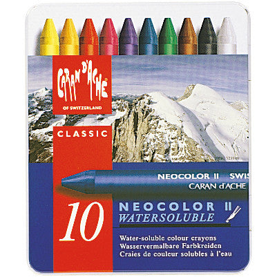 Caran d'Ache NeoColor II Watersoluble Colour Crayons Classic 10pk
