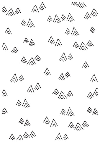 Kaisercraft Embossing Folder Mountains 4inX6in