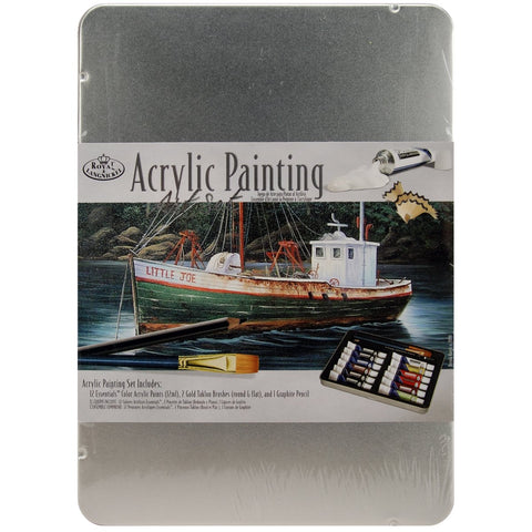 Acrylic Paint Art Kit with Tin 8.5inx6in