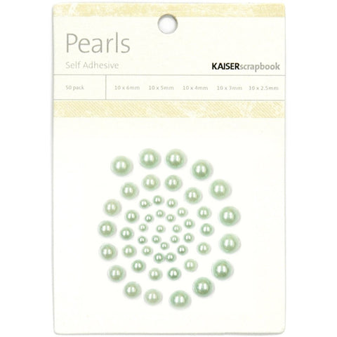 Self-Adhesive Pearls Ice Green