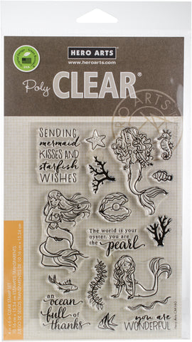 Hero Arts Clear Stamps Mermaid Kisses 4inX6in