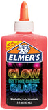 Elmer's Glow In The Dark Liquid Glue Pink 5oz